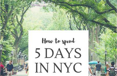 5 ימים בניו יורק